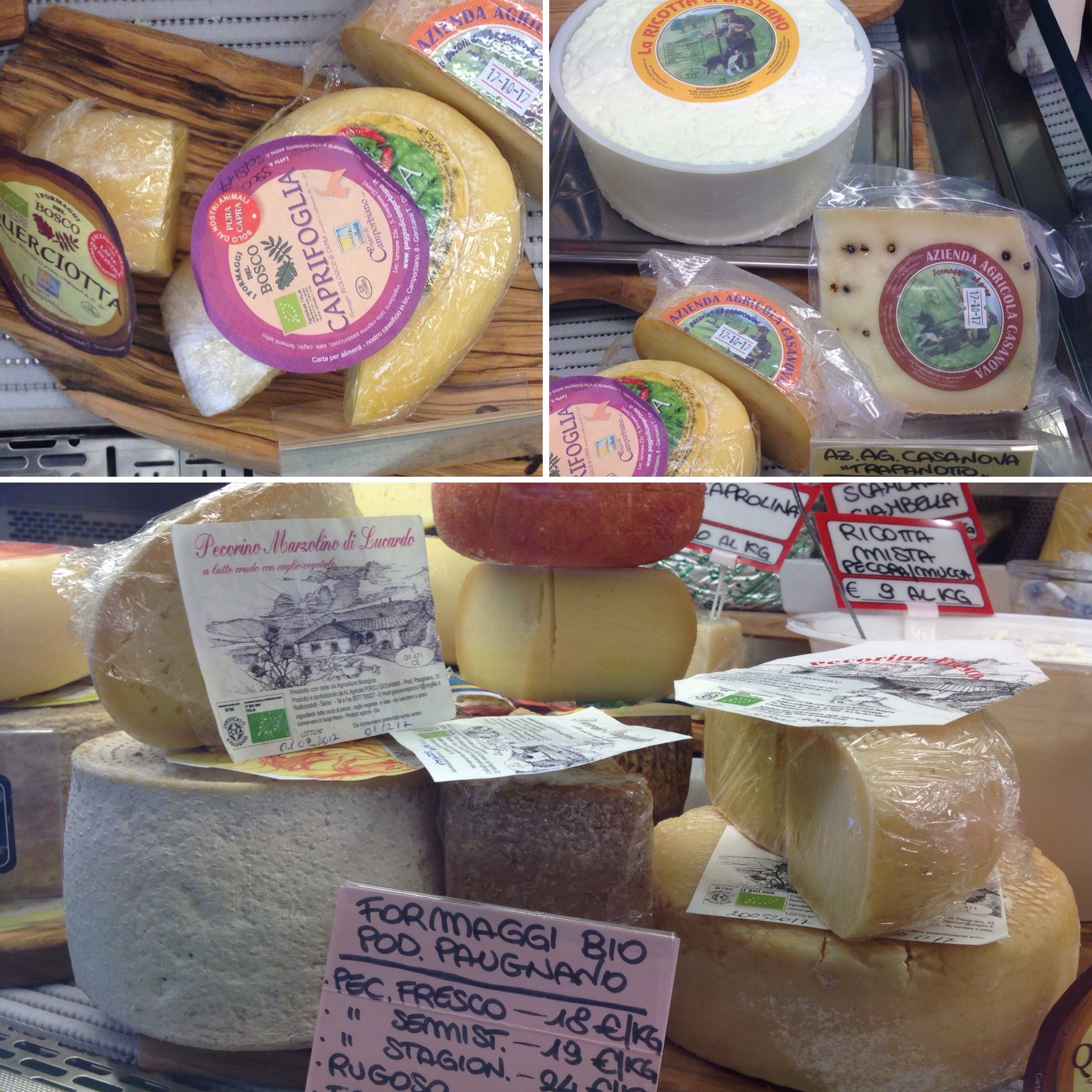 Our organic cheeses
