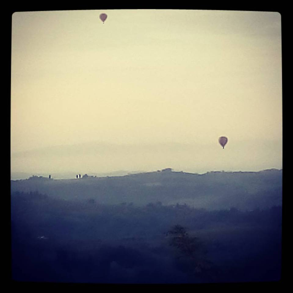 Balloons in the morning